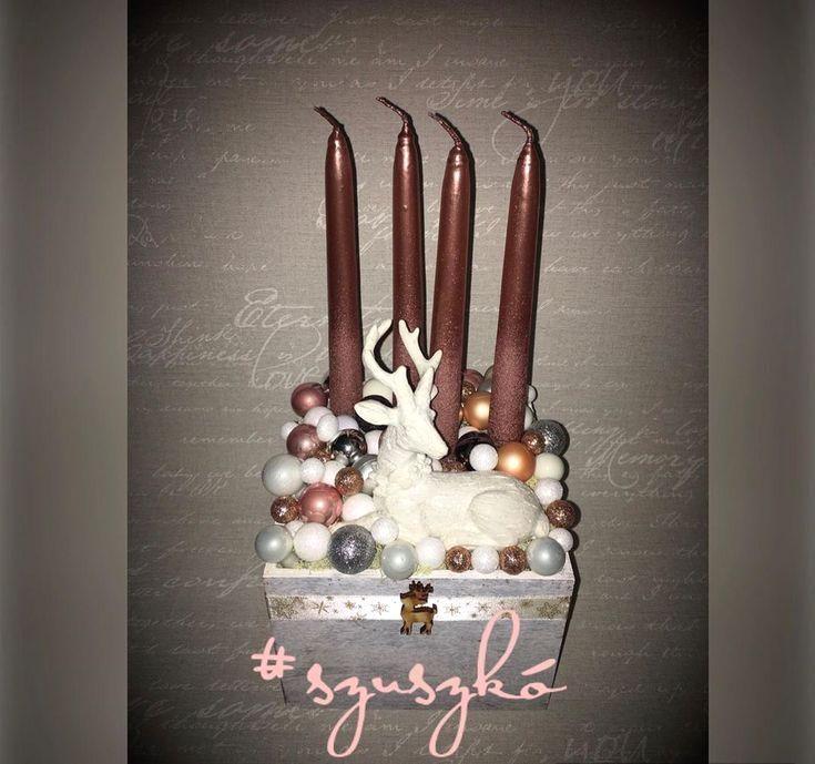 #advent #tabledecor #powderpinkdecor #christmasdecor #deer #merrychristmas #myhobby #szuszkokrea #imadomakaracsonyt #legszebbünnep