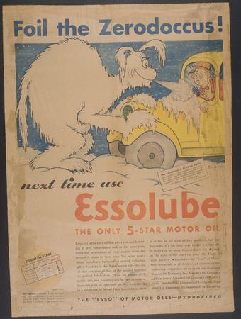 Standard Oil Company - Essolube advertisement - Dr Seuss