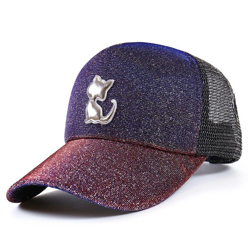 e2ab6ce2d3418 ... Gradient Discoloration Glitter Mesh Cute Cat Baseball Cap Summer  Snapback Breathable Trucker Hat Women Dad Hat Gorras Men – Cheap Bestseller  Products