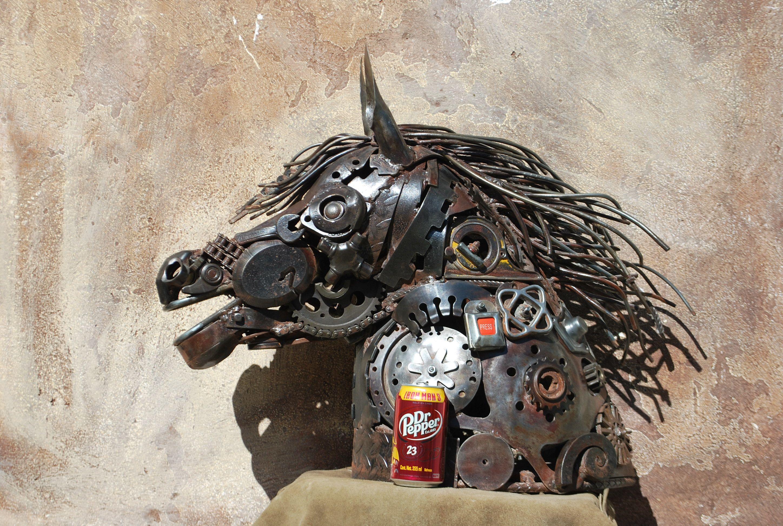 caballo en forja y metales https://www.facebook.com/forja.madera?fref=ts reciclados