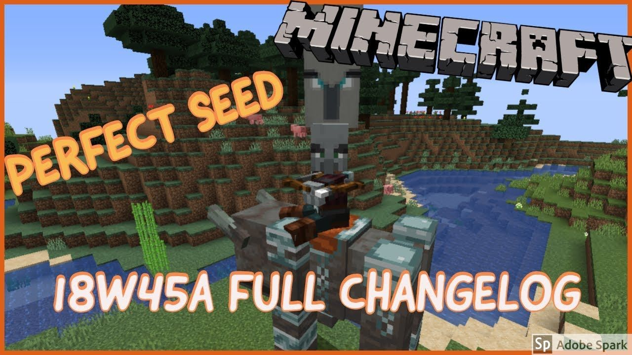 Minecraft 1 14 Snapshot 18w45a Full Changelog Perfect Seed My