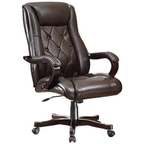 Chapman Black Bonded Leather Executive Desk Chair -