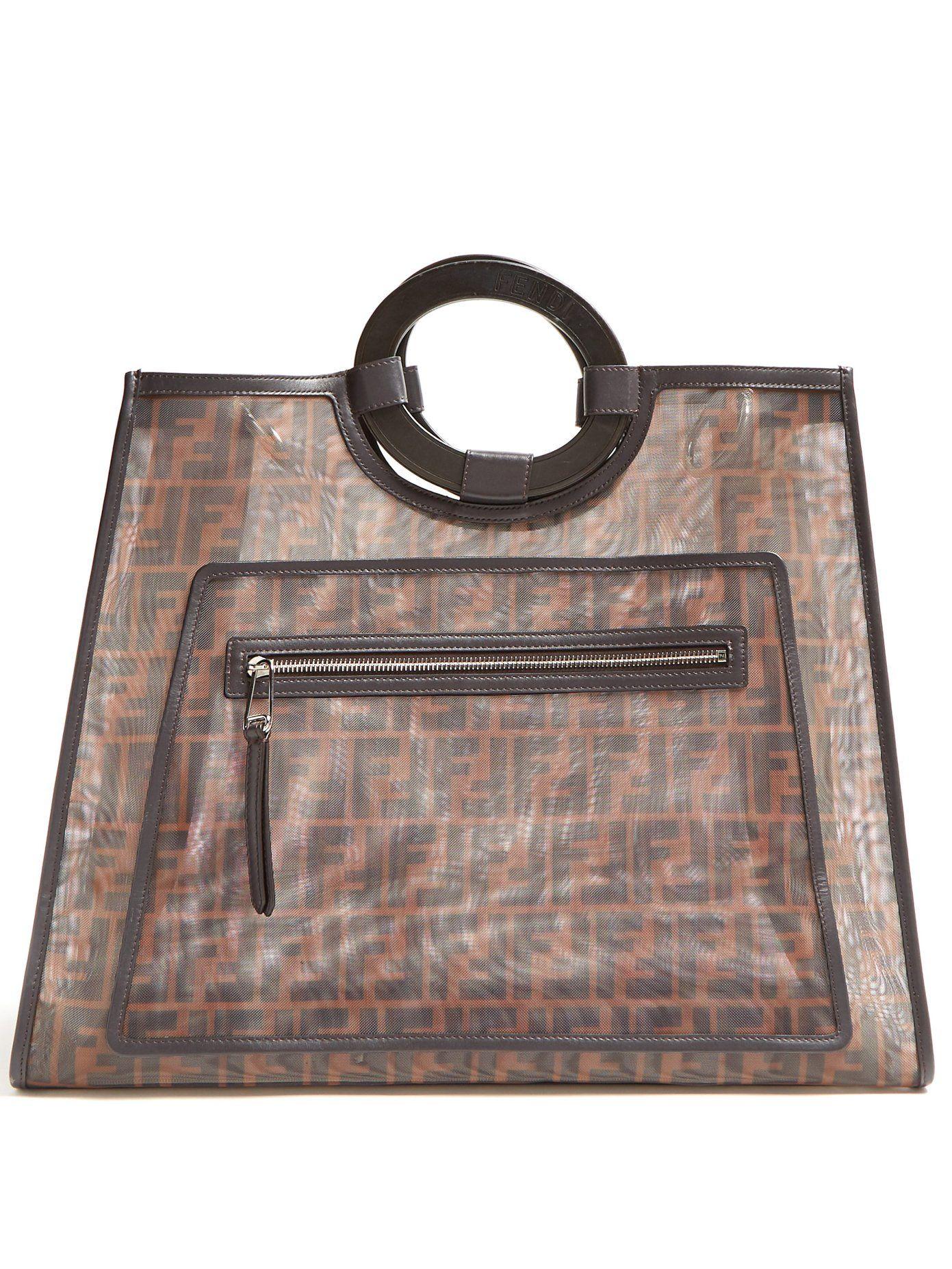 6fc40e0f87 Runaway FF-print mesh tote bag
