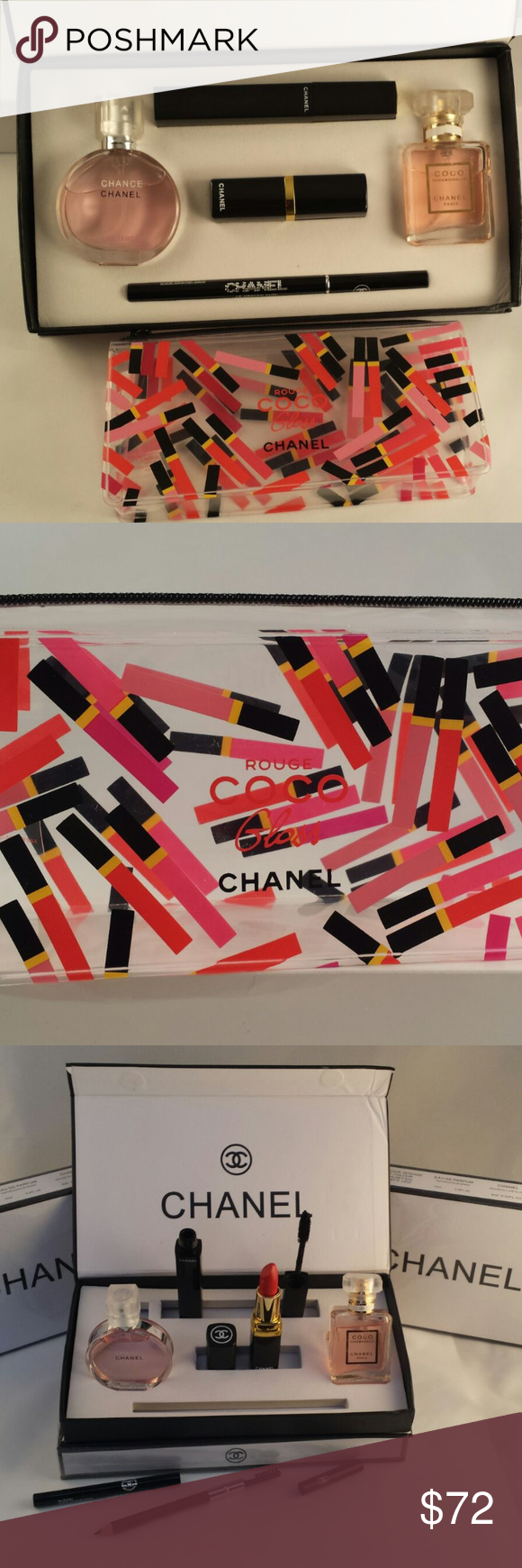 CHANEL Gift Set 5 Pieces and Makeup Bag 2Eau De Parfum 0