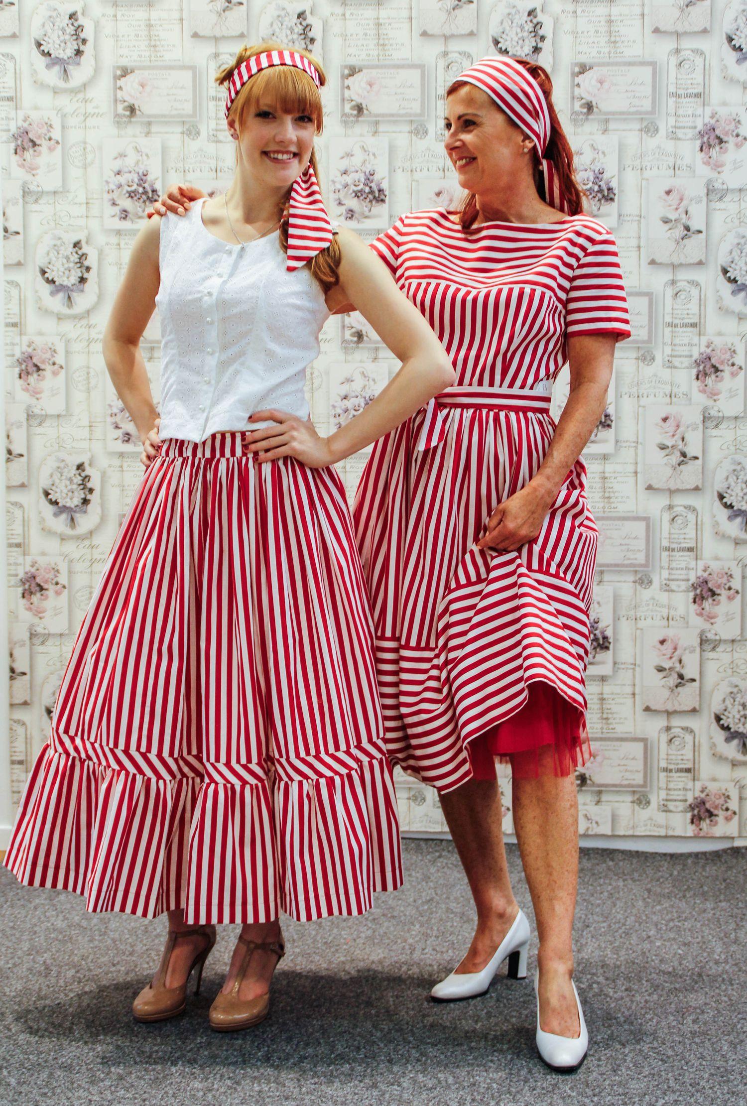 Kleid , Rock & Bluse nach Original 50er Jahre Schnittmuster genäht ...