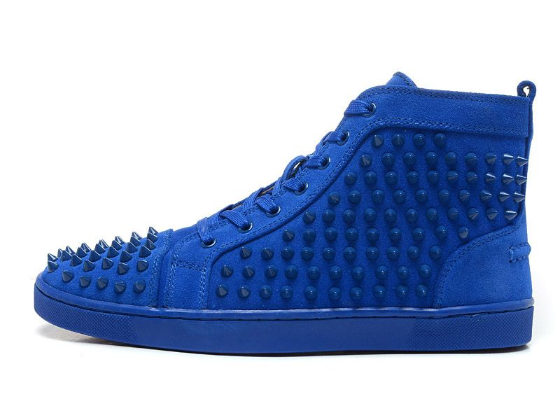 baskets louboutin bleu