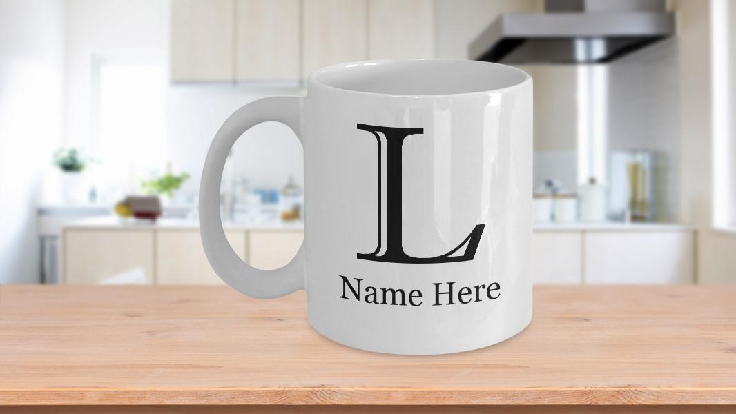 Alphabet Mug Gift For Him Her Imprint Mt Font