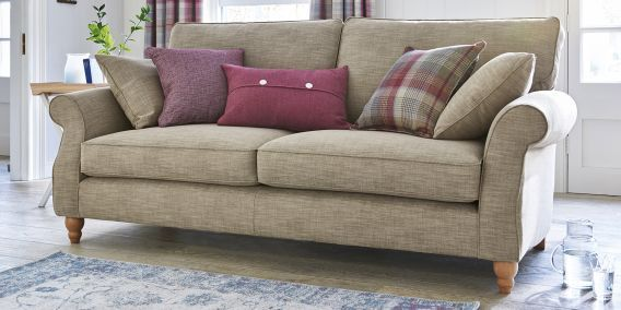 Buy Ashford Large Sofa Seats Boucle Weave Light Dove Low - Ashford sofa