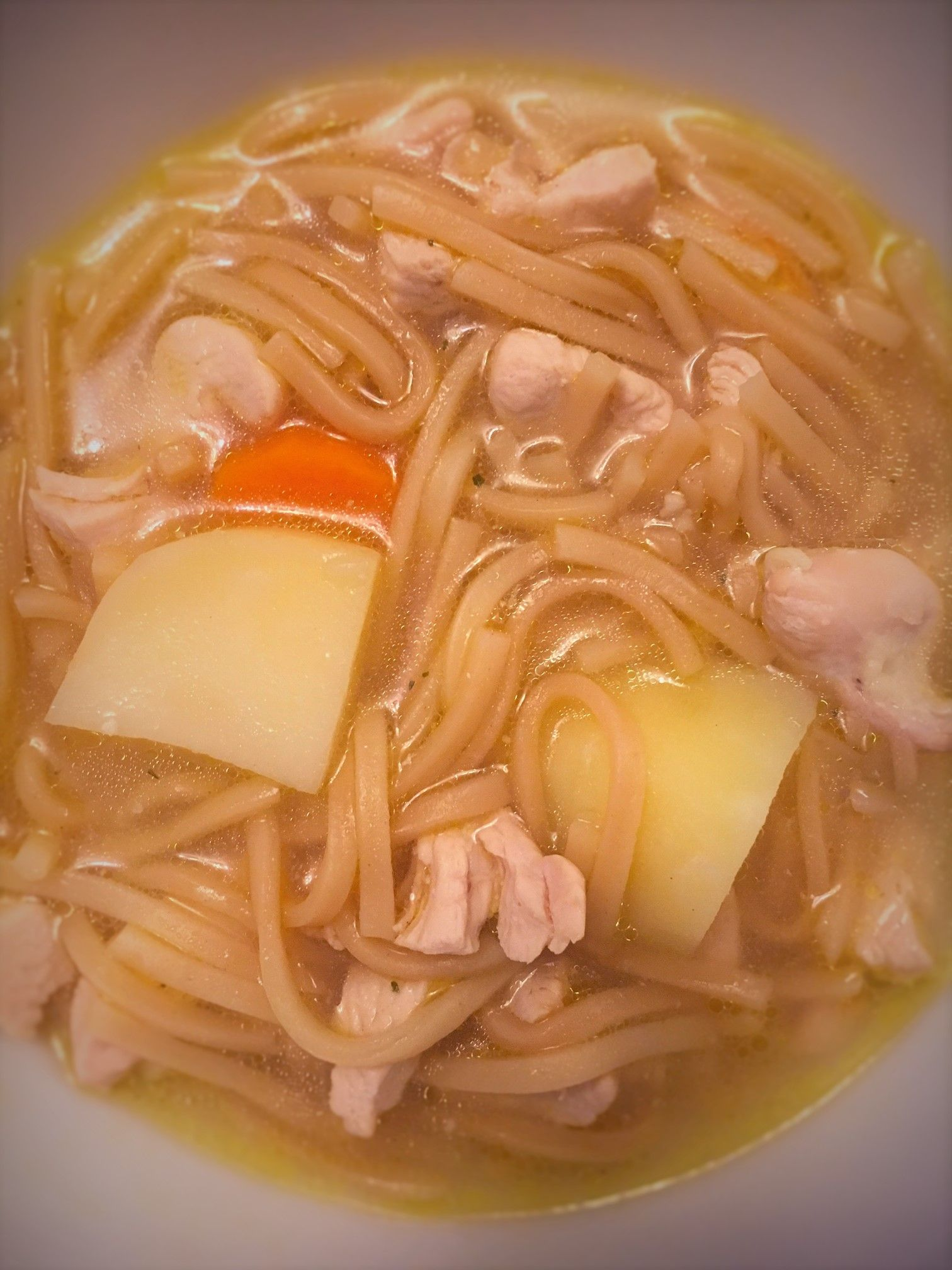ThisChicken NoodleSoup is a really nutritious and filling soup. I don't usually use the chunky setting on my Morphy Richards soup maker, but this soup has reminded me I really should. I actually had this soup for my dinner last night, the inclusion of noodles and potatoes made it a substantial enough meal for a …