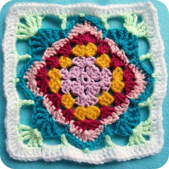 Diamond Flower Granny Pattern - In English AND German ♥