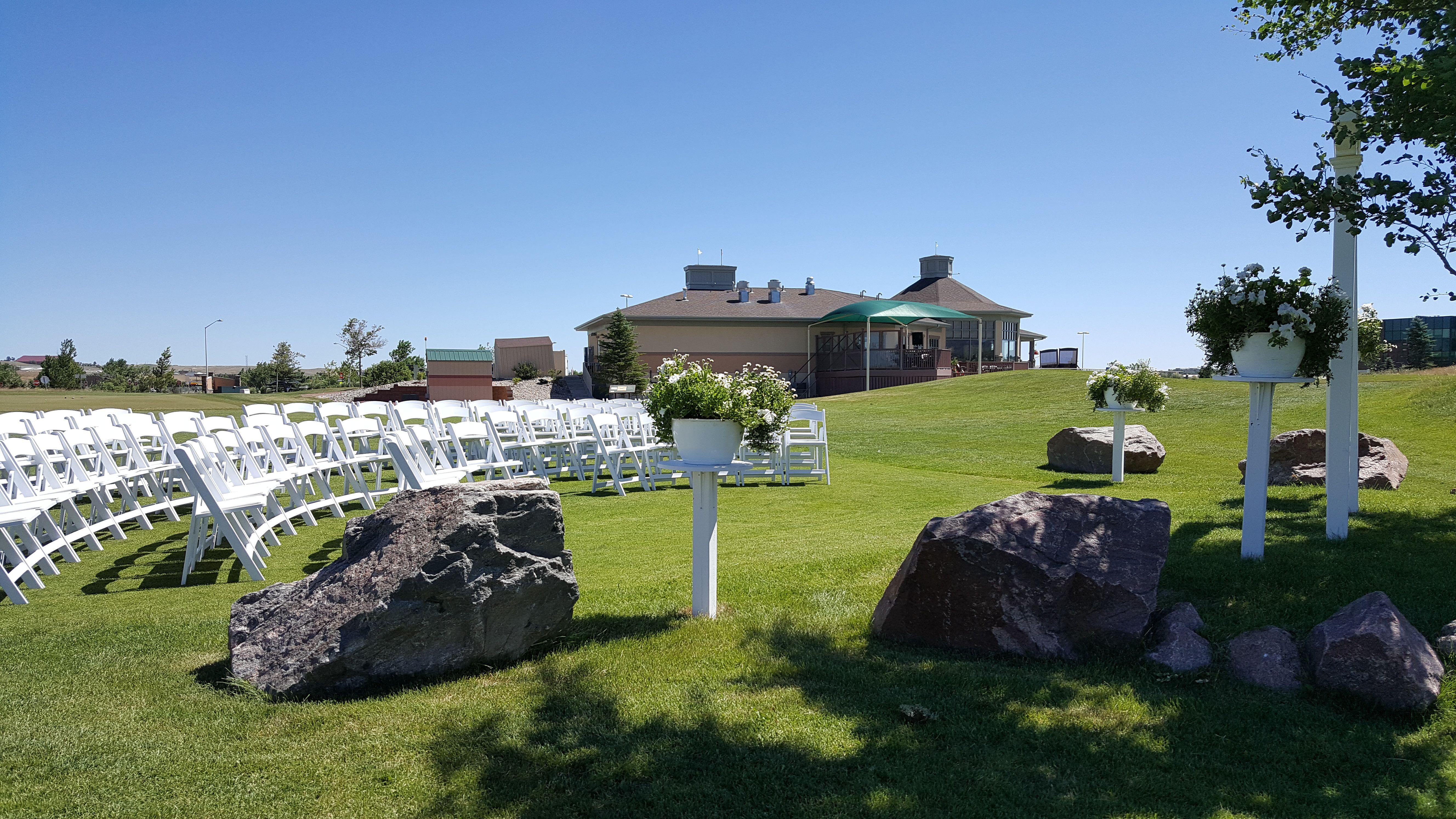 Venue set up at Three Crowns Golf Club in Casper, Wyoming