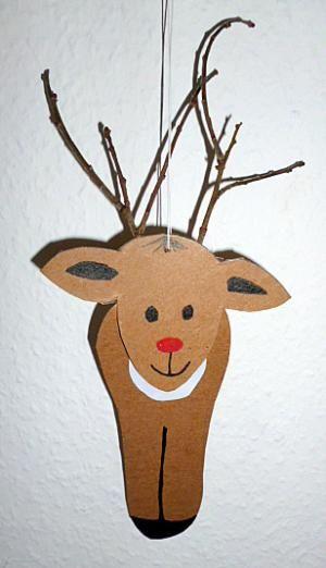 weihnachten basteln elch mit astgeweih z aufhaengen elch basteln pinterest basteln. Black Bedroom Furniture Sets. Home Design Ideas