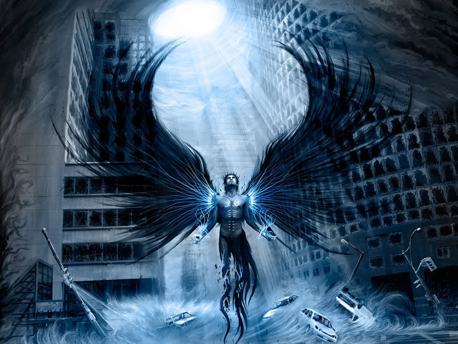 Célèbre amazing angel background   Fond ecran : Ange ou démon du ciel - Id  EB46