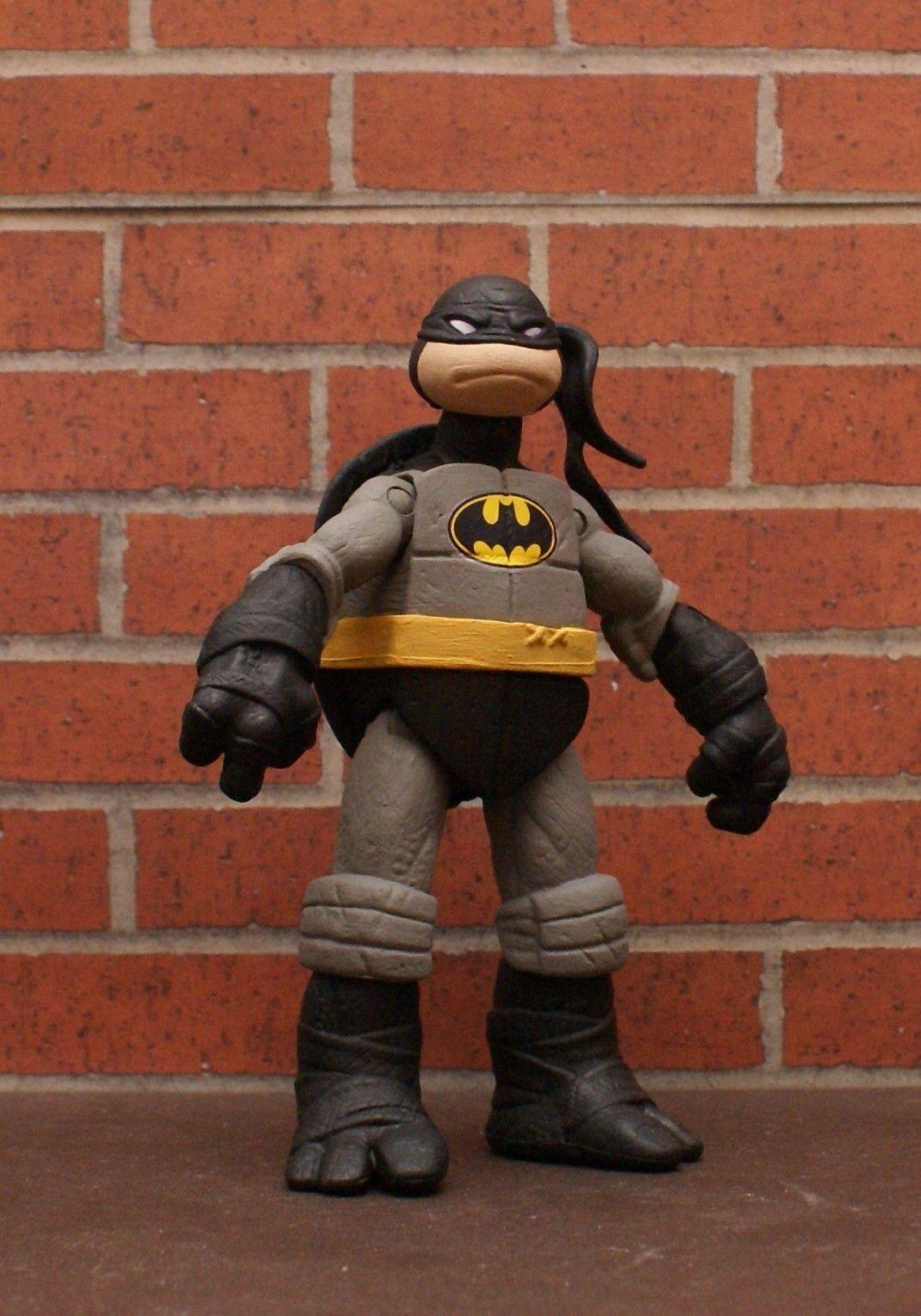 Batman And Tmnt Figures : batman, figures, Sweet, TMNT/Batman, Custom, Batman, Funny,, Tmnt,, Action, Figures