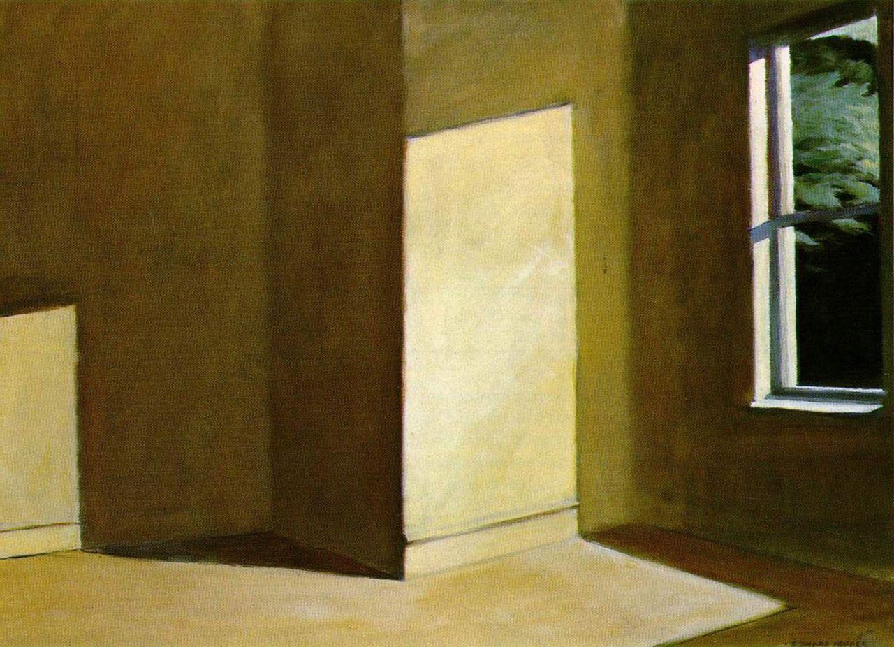 Edward Hopper, Sun in an Empty Room, 1963 Mijn favoriete schilderij sinds jaar en dag.  Lang geleden 1x mogen zien in Essen. Voor zover ik weet in privé bezit bij Amerikaans echtpaar.