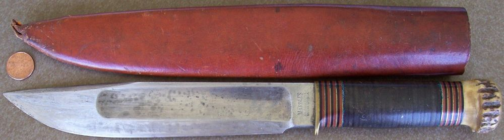Old Large Marble S Gladstone Mich Hunting Knife 8 Quot Blade