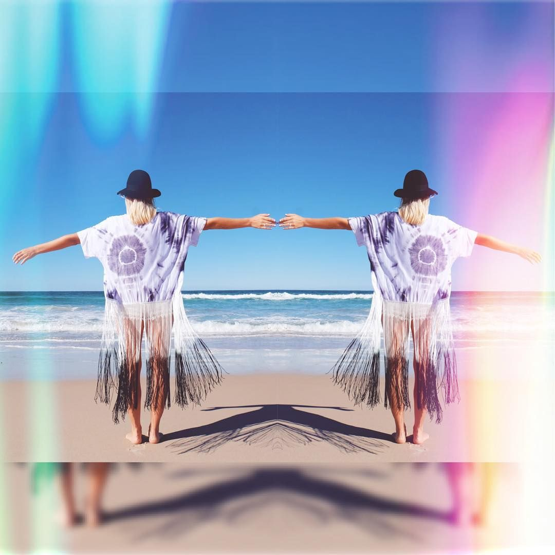 "Instagram의 An Enchanted Life님: ""☀️ Dance along island shores with the salt air in your lungs in our new ""Salt Dip"" Kimono. Tie dye perfection with incredible dip die tassels. For the salty souls. Shop our Kimonos here: #anenchantedlife.com.au """