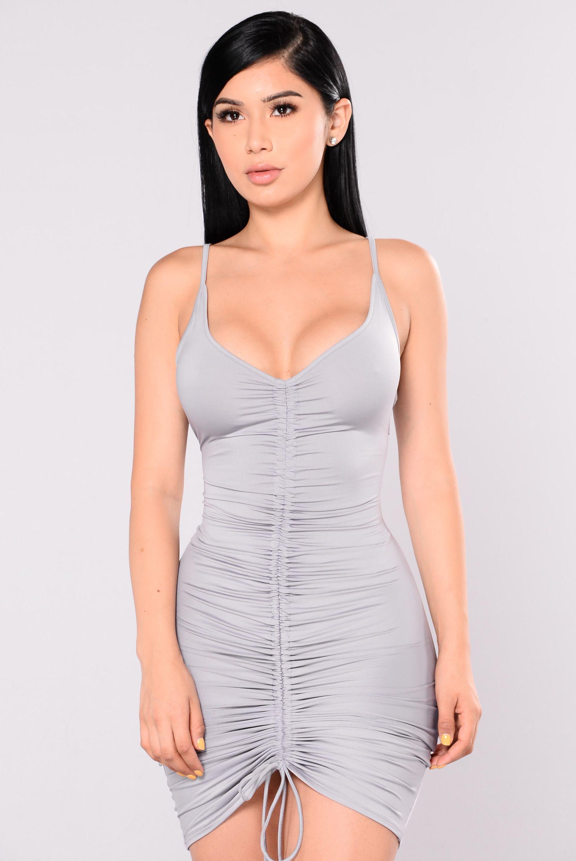 bd5a0023ff2 Shanghai Ruched Dress - Grey in 2019