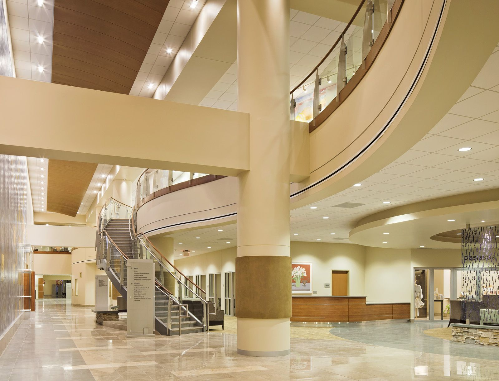 sustainable interiors help create leed gold certified hospital an article by arrays nicole wood - Interior Design Leed Certification