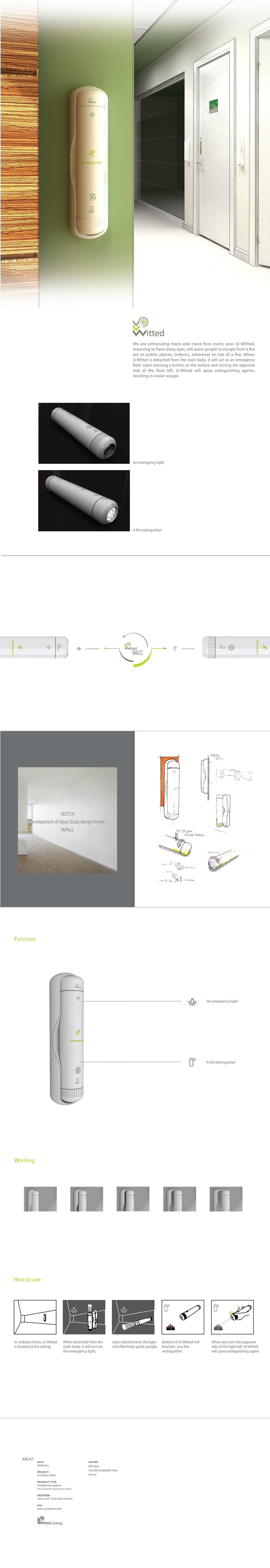 """내 @Behance 프로젝트 살펴보기: """"Q-Witted_Wall Fire extinguisher [2009]"""" https://www.behance.net/gallery/45877851/Q-Witted_WallFire-extinguisher-2009"""