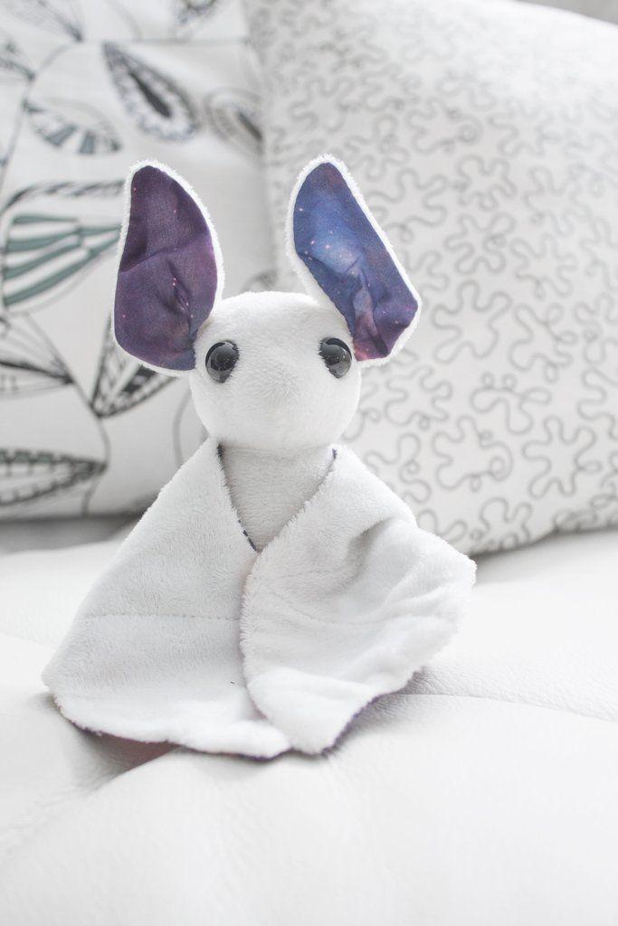 White Galaxy Bat Stuffed Animal, Plush Toy, Bat Plushie | Pinterest