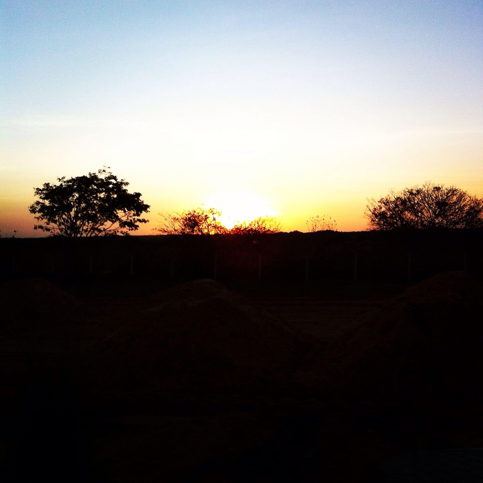 Por do Sol na volta para casa.