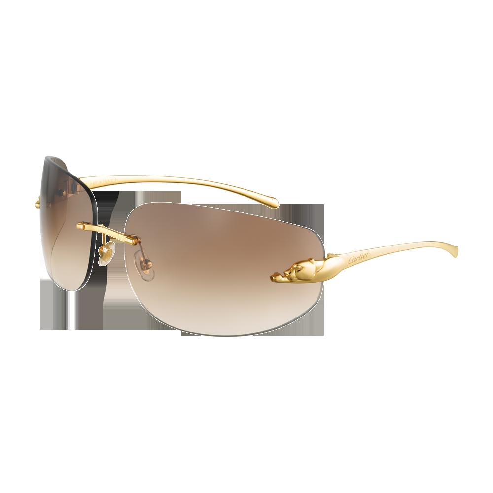 45e890a37a8 Panthère de Cartier rimless sunglasses