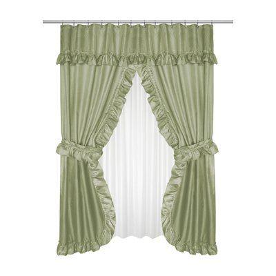 House Of Hampton Gahanna 5 Piece Double Swag Shower Curtain Set