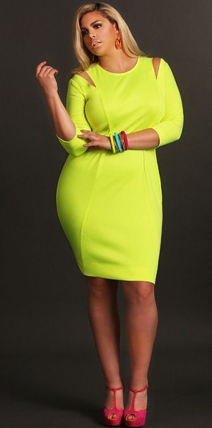 Plus Size Shopping Directory Neon Dresses Neon And Curvy