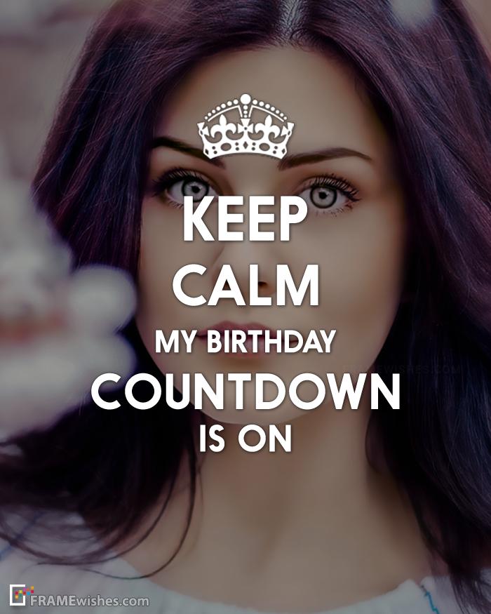 Birthday Countdown Quotes : birthday, countdown, quotes, Birthday, Countdown, Photo, Frame, Birthday,, Countdown,, Quotes