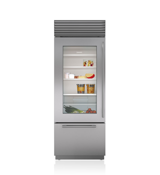 by Sub-Zero in Arkansas, Kansas, Missouri, & Oklahoma - Built-In  Over-and-Under Glass Door Refrigerator/Freezer