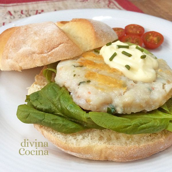 Receta de hamburguesa de merluza y gambas bon appetit thermomix and fish - Cocinar pescado congelado ...