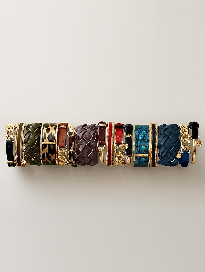 Talbots - Curb-Link & Leather Bracelet | Jewelry |