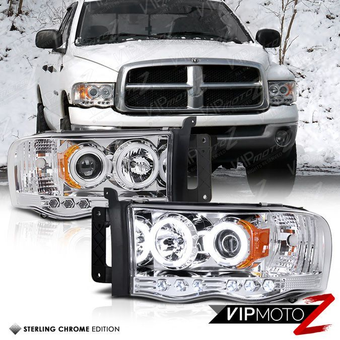 Dodge Ram 2500 1994 2002 Projector Headlights Black Halo Led Dodge Ram 2500 Dodge Ram Dodge