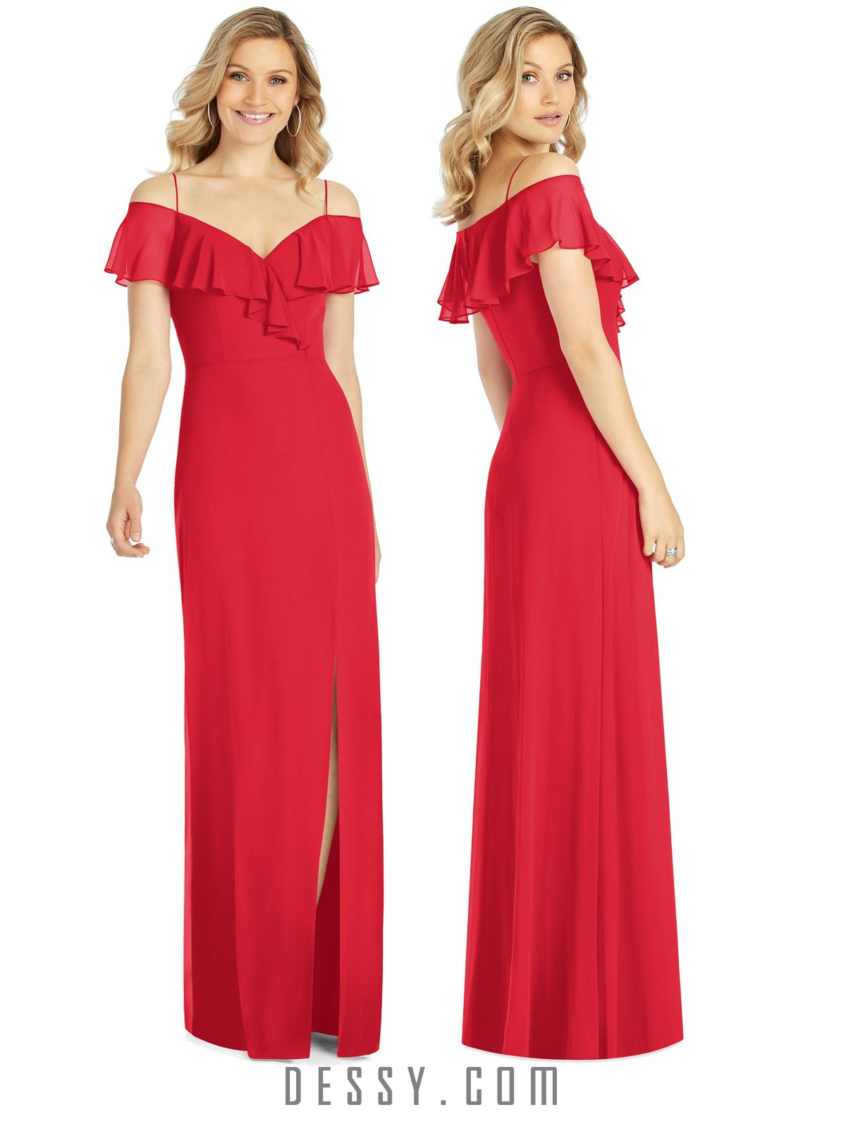 73e1cb1fa10 NEW Spring 2019 styles are now available at Dessy.com. Shown here, style  6809 in Parisian Red