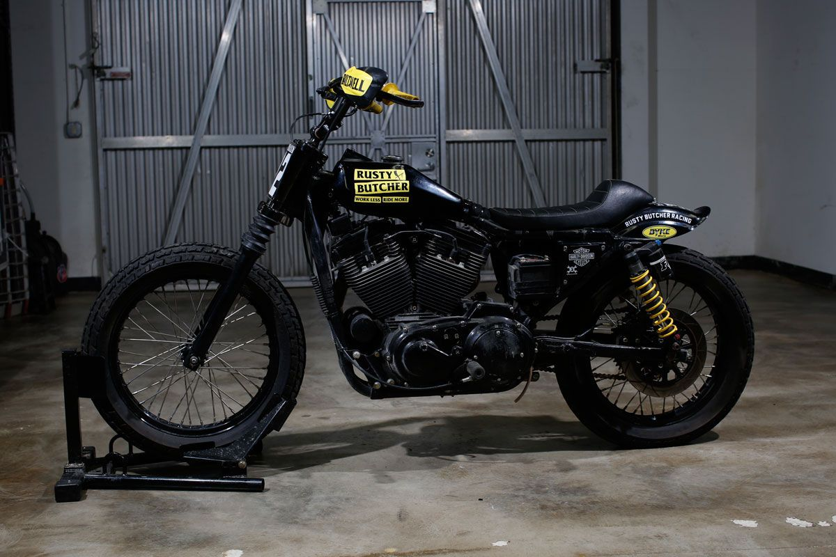 Check out Rusty Butcher's collection of Sportsters and his