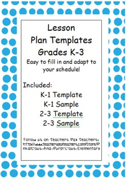 Editable Differentiated Lesson Plan Template Kindergarten First