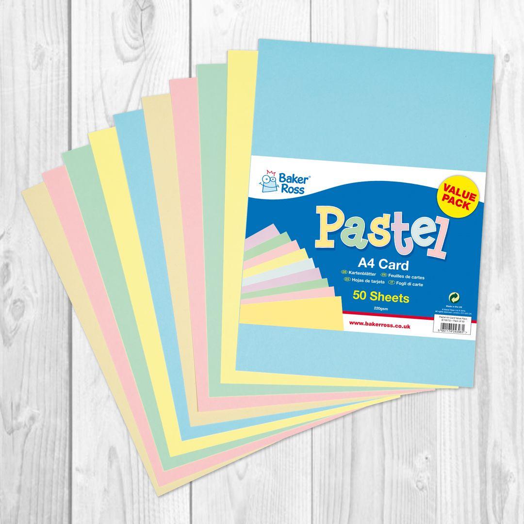 Pastel Coloured A4 Paper Value Pack Card Making Crafts Easter Crafts For Kids Crafts For Kids