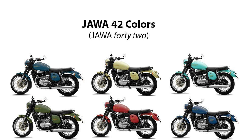 Jawa 42 Colors Green Teal Lime Blue Red Nebula Blue Color
