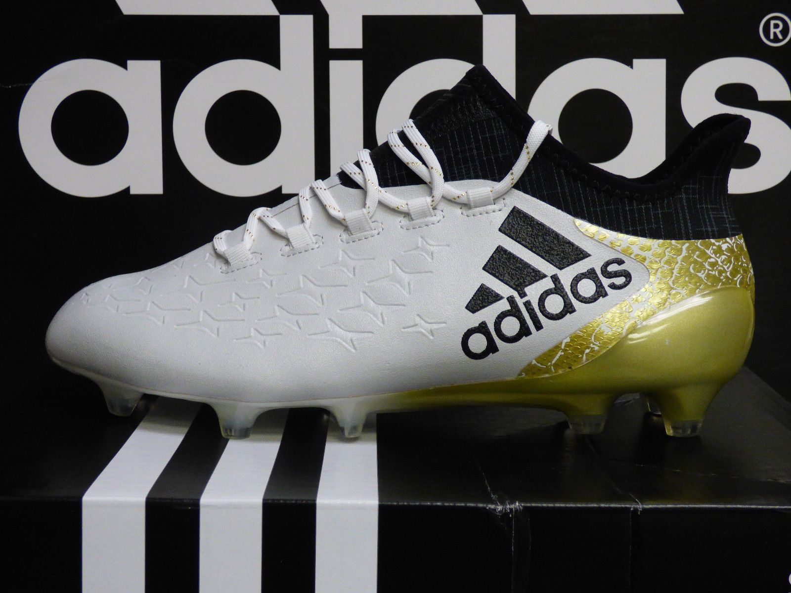 16 Ground New Authentic 1 Adidas Soccer X Mens White Cleats Firm HtFw1q