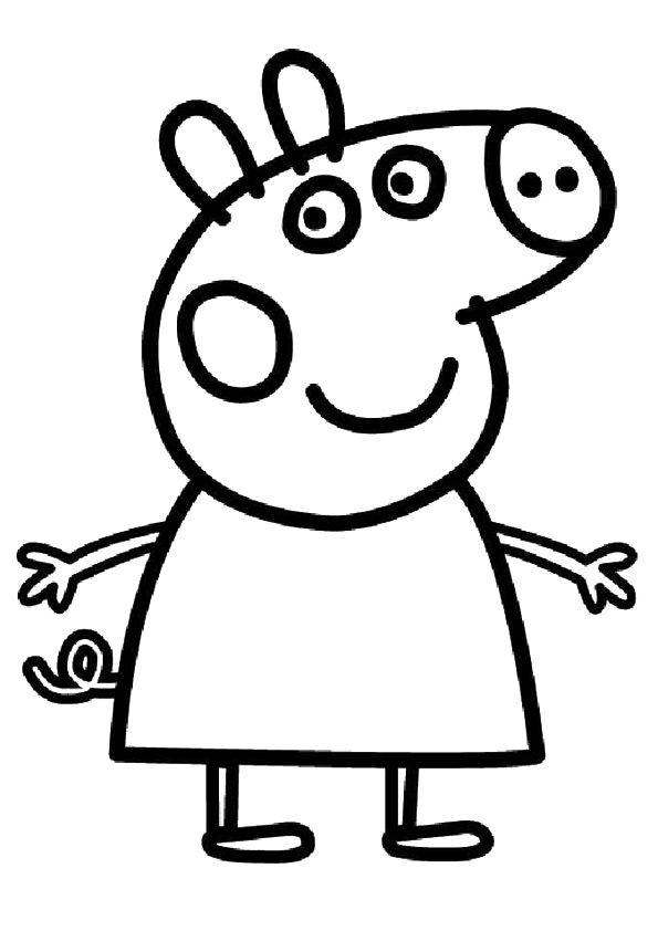 Peppa Pig Para Colorear Spanish Coloring Pages Peppa Pig