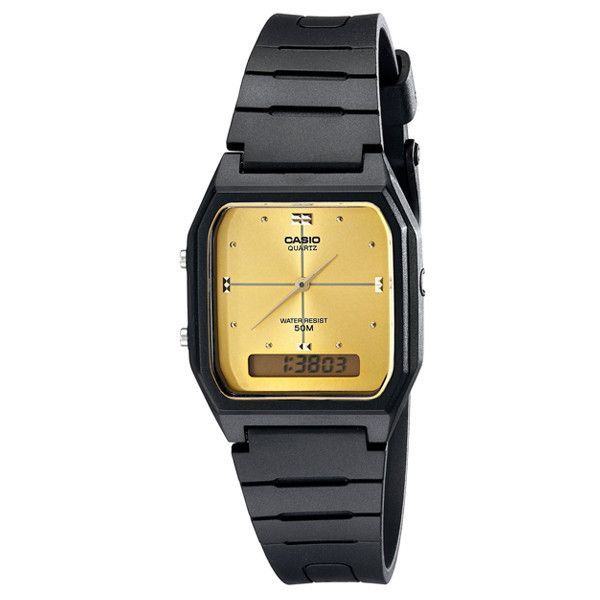 Casio All-Black and Gold Tone Face Watch  26a7caa3b9f