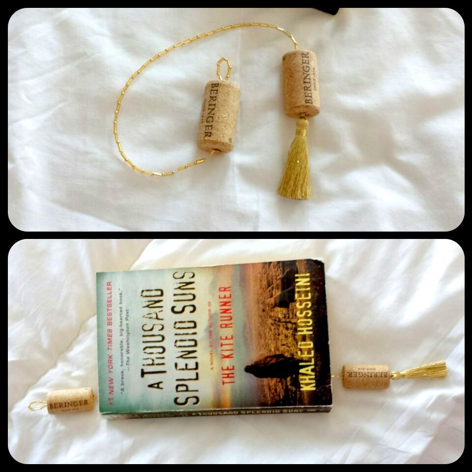 Bookmark made with corks - glass bookmark corks cork diy crafts home ...