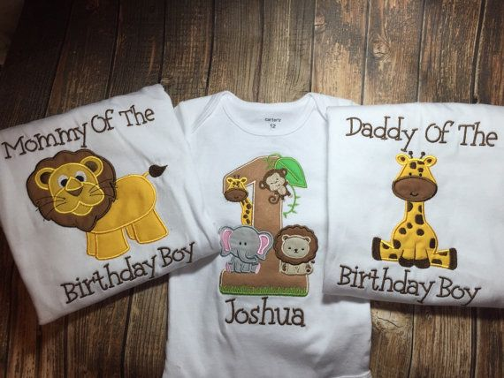 Boys First Birthday Jungle Bodysuit Or Shirt Matching
