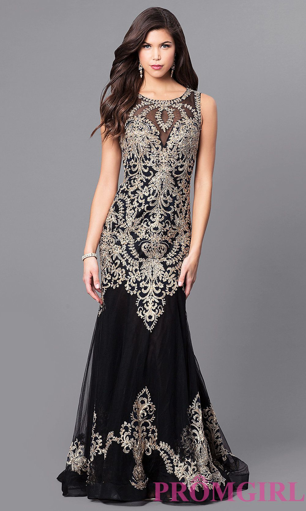 0c5fd4579e1 Lace Applique Long Prom Dress with Back Cut Out. I like Style FB-GL2307  from PromGirl.com