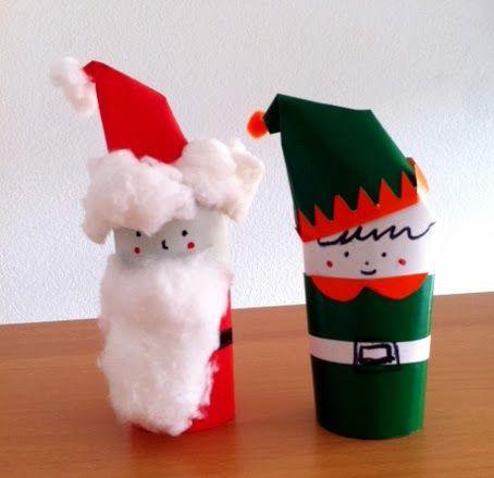 Manualidades de Navidad con rollos de papel Manualidades navidad