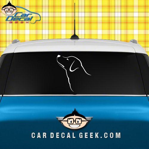 Labrador dog head vinyl car decal sticker dog decals