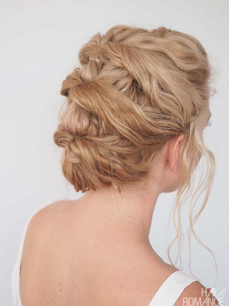 Quick u easy updo for curly hair hair romance easyhairstyles