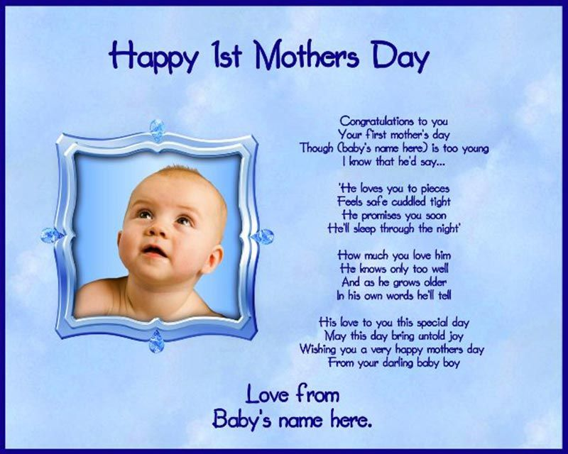 Happy First Mothers Day Quotes. QuotesGram Baby Pics