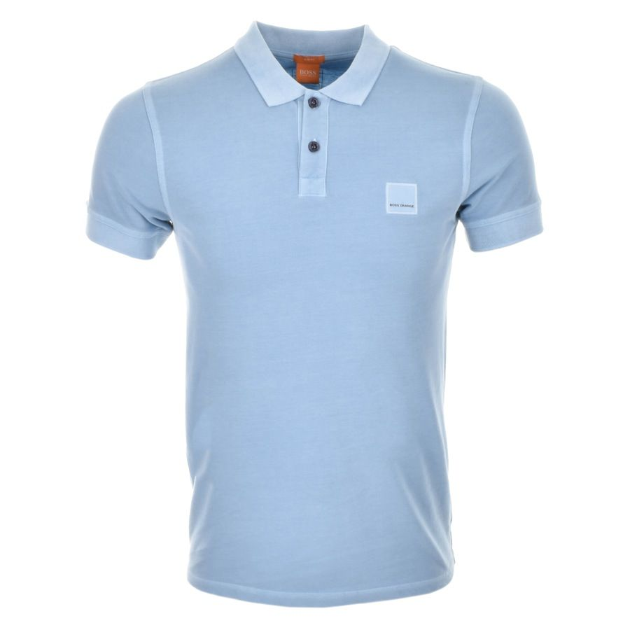 HUGO BOSS Orange Pascha Polo T Shirt Blue  fd3e209a0c4ee